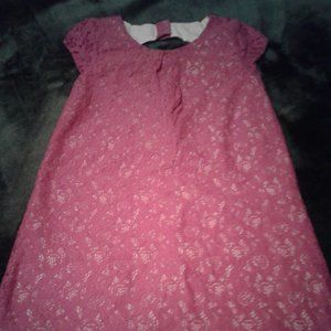 Dressed Up By Gymboree Girls Pink Lace Dress